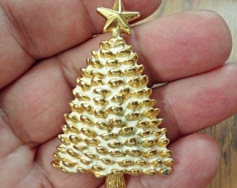 VINTAGE Christmas tree  Brooch/ R2