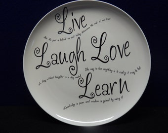 Live, Laugh, Love, Learn Decorative Plate - 10 3/4""