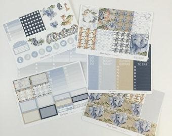 Safari Weekly Kit / Planner Stickers / Erin Condren Planner Stickers / Vertical