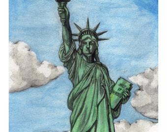 Lady Liberty Print