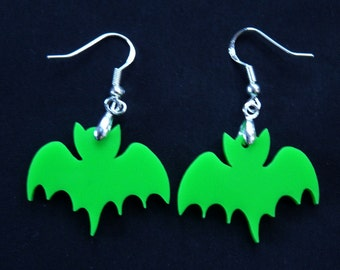 Mischief After Midnight - Al-Ghul the bat dangle earrings