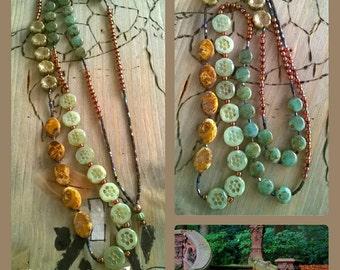 Long chain beaded boho style