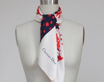 70's Christian Dior silk scarf