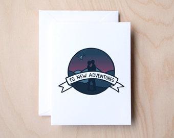 To New Adventures (Love, Travel, Adventure, Engagement, Wedding Card)