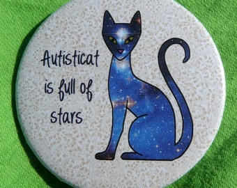 Autisticat is full of Stars (button)