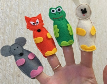 Finger puppets from fairy tales