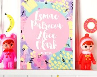 Personalised Pastel Pop Print