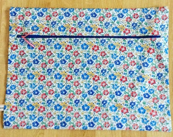 Liberty Print Zip Storage Bag