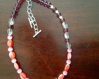 Key Ball Heart necklace