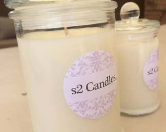 s2 Candles made from 100% Eco Soy Wax