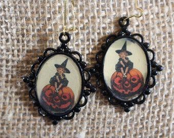 VIntage style Halloween Earrings
