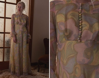 Vintage Silk Dress - Original '70s