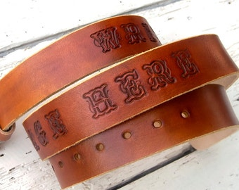 Leather Belt for men, Personalized leather belt, Jeans belt, Top quality vegetable tanned leather, Engraved leather belt