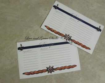 Nautical Recipe Cards