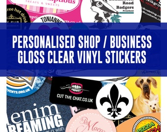 Clear Stickers Etsy - Personalised vinyl stickers