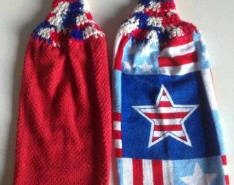 Set patriotic dish towels