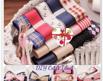 Assorted Ribbon DIY kit 16 yards 0.3mm-5mm ribbon kit lace ribbon, Saint ribbon