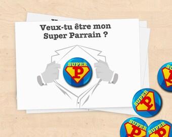 Map badge gifts super sponsor Baptism - Collection Superman
