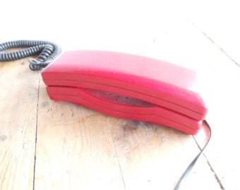 Vintage Red Wall Phone//retro wall Phone//Wall Telephone//Red Telephone//