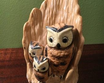 Owl Family Statuette