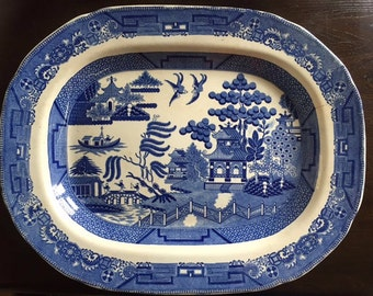 Willow Pattern Serving Plate