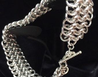 Handmade European 6-1 Chainmaille Bracelet
