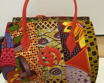 African inspired purse