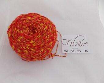Multicolour yarn, yellow yarn, red yarn, orange yarn, cotton yarn, knitting yarn, crochet yarn, cheap yarn, yarn lot, DK yarn, light yarn