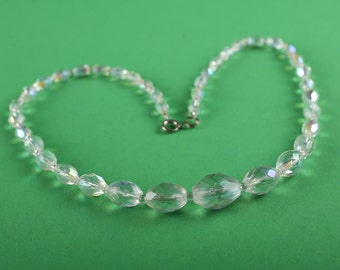 Vintage, 1950's, Aurora Borealis necklace