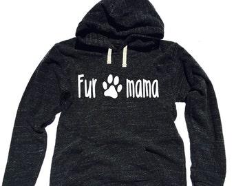 Triblend Fleece Pullover Hoody Fur Mama