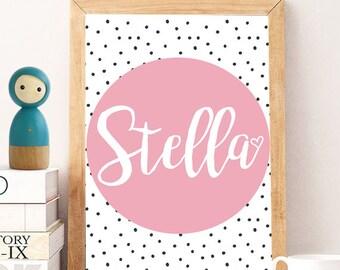Custom Name, Custom Name Print, DIGITAL Nursery Art, Custom Printable poster, Personalized Print, Instant download, Gold print