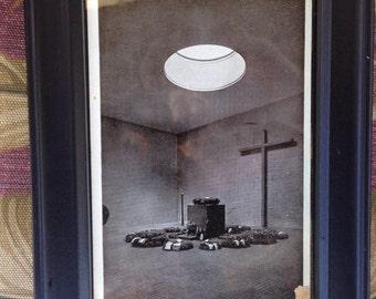 Vintage Framed postcard from Berlin,Ehrenmal. 1942