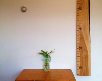 Wood Burned Live Edge Growth Sticks - Free Personalization - Natural Edge Rustic Growth Chart