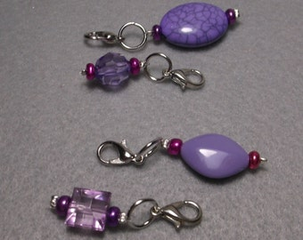 Lavender Stitch Marker Set of 4