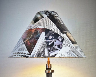 Vintage pattern Lampshade#3_Conical shade_Magazine Collage_Lampshade_Lamp_French pattern