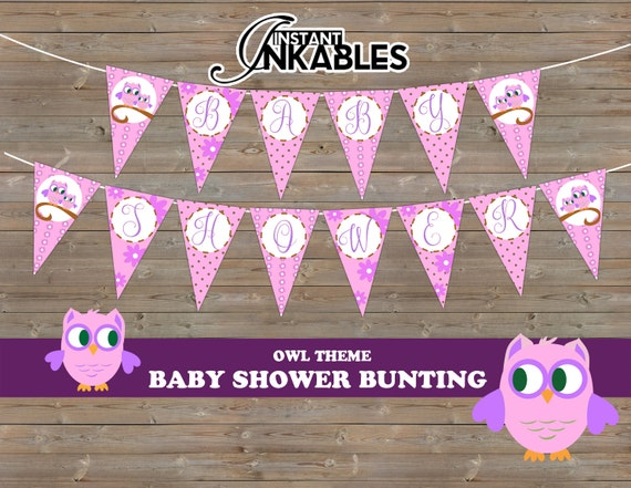 pink owl theme baby shower banner purple owl baby shower owl baby