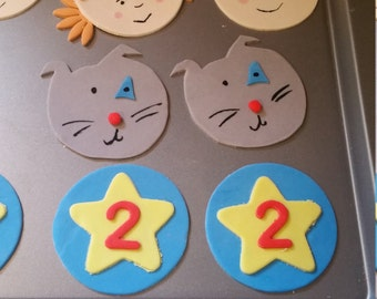 Caillou cupcake toppers