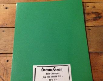 Gamma Green Cardstock 8.5 x 11 25 sheets 65 lb QUALITY PAPER