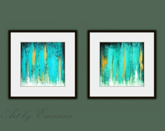 Printable Abstract Art, Instant Digital Download Art, Set of 2 Modern Painting, Contemporary Art, Abstract Painting, Modern Square Art