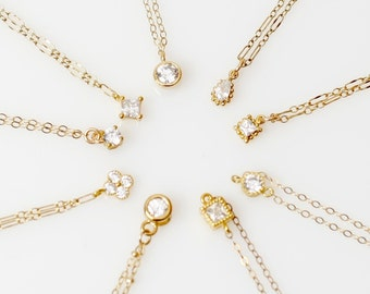 Gold Anklets, Simple Anklets, 14k Gold Anklets, Delicate Gold Anklets, CZ Anklets,Minimalist Anklets, Everyday Anklets,Gold Anklets with CZ.