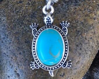 Turtle/ Tortoise Necklace.  Nautical, Beach, Island, Hawaiian, Ocean Jewelry