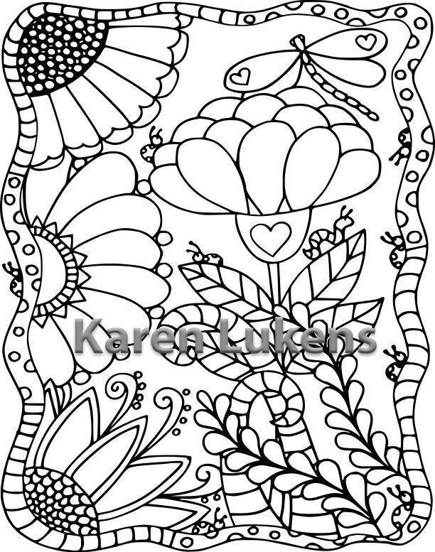 whimsical flower coloring pages - photo#23
