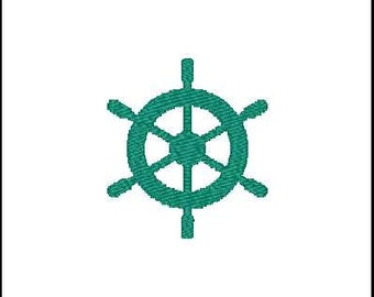 Fill Embroidery Design, Steering Wheel, Boat Wheel, Nautical, File, Digital, Download, Machine