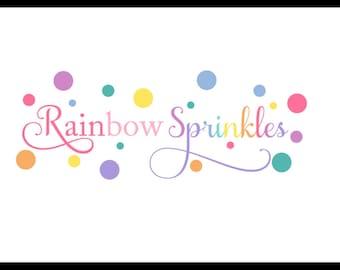 Rainbow Sprinkles Bows & Blooms