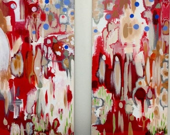 Red party (Diptych)