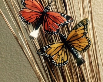 Butterfly hair clips - set of two