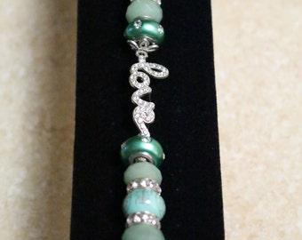 """Jade """"Love""""  bracelet"""