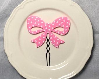 Pink Ribbon Hair Pin