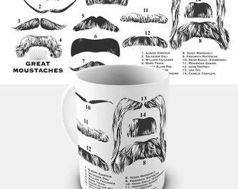 Great Moustaches Ceramic Tea Mug
