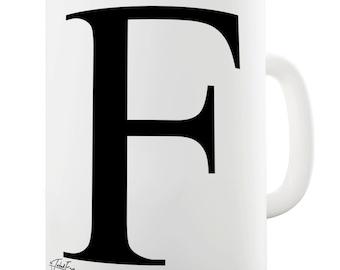 Alphabet Monogram F Ceramic Tea Mug